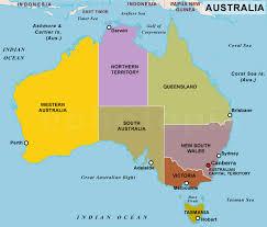 states australia map map of states of australia major tourist attractions maps