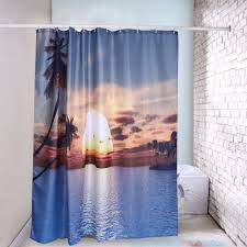 new digital warm sunshine bamboo printing shower curtain bath