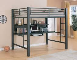 Bunk Bed Desk Modern Size Metal Loft Beds For Adults With Desk