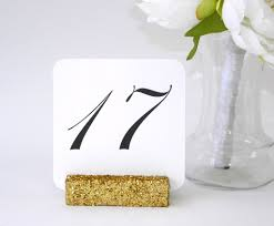 wedding table number holders table number holders gold glitter table card holders