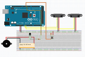 create a motion sensing alarm with an arduino and ir sensors