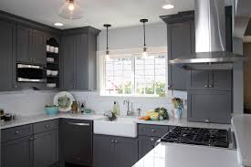 Grey Kitchens Cabinets Wonderful Painting Kitchen Cabinets Grey Chalk Paint In French