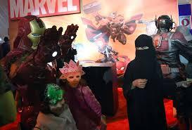 bring it on halloween costume saudi arabia u0027s first comic con