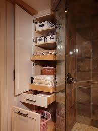 bathroom closet ideas five great bathroom storage solutions