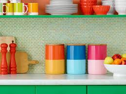 colorful kitchen canisters 5 new diys for your kitchen hgtv s decorating design hgtv