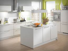 Small Kitchen Designs Images Casual Small Kitchen Design With Lime Green Wall And White Kitchen