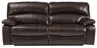 Best Recliner Sofa by Signature Design By Ashley Damacio Dark Brown Leather Match 2