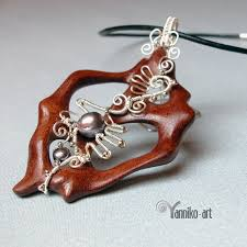 wood necklace designs images Wood bone and wire wrapped jewelry by yannikoart the beading jpg