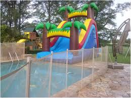 backyards compact summer water slide rentals into pool 148