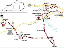 kentucky backroads map bourbon kentucky bourbon trail