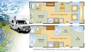 rv class c floor plans alaska rv rentals land highlights alaska travel adventures