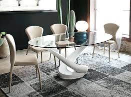 oval glass dining table overwhelming silver oval glass dining table room for your hotel