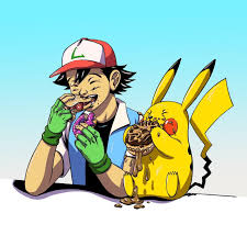 ash and pikachu eating donuts pokémon know your meme