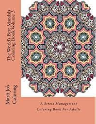 u0027s mandala coloring book stress management
