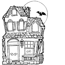 Halloween House Coloring Pages by Arye0197 Inc