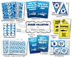 shark birthday invitations blue renee u0027s soirees