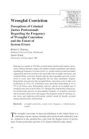 Inno Infr by Wrongful Convictionperceptions Of Criminal Justice Professionals
