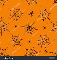 orange black halloween background halloween black spider web pattern orange stock vector 308788448