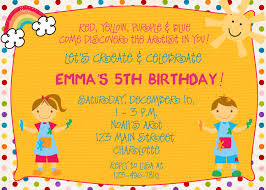 arts and crafts birthday party invitations drevio invitations design