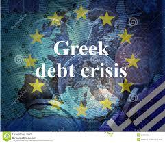 Blue Flag Stars In Circle Greek Debt Crisis Stock Illustration Illustration Of Blue 55141959