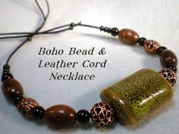 beaded cord necklace images Boho bead and leather cord necklace tutorial jpg