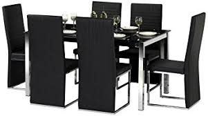 amazon dining table and chairs julian bowen tempo glass dining table set with 4 chairs black