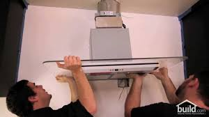 how to install a kitchen island how to install a zephyr verona range hood build com youtube