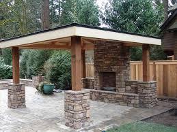 Backyard Concrete Patio Ideas by Backyard Gazebo Ideas With Fireplace Backyard Fence Ideas