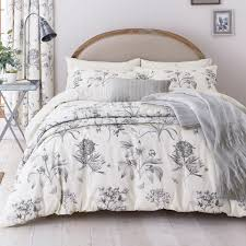 sanderson etchings u0026 roses silver bedding collection