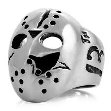 Jason Voorhees Mask Jason Mask Friday The 13th Halloween Stainless Steel Ring 381