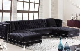 Black Sectional Sofas Sectional Sofas Microfiber Sectional Sofas At Comfyco Modern