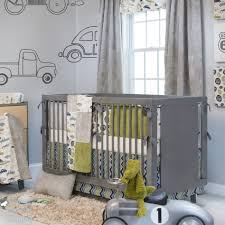 Grey And Green Crib Bedding Baby Nursery Great Light Blue Grey Baby Nursery Room Decoration