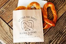 pretzel bags for favors pretzel wedding favor bags we the knot wedding snack
