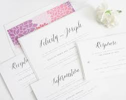 whimsical rustic romance wedding invitation with floral accents