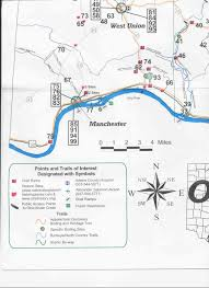 Ohio Union Map by Edge Of The Appalachia Preserve Serpent Mound Ohio Hiking Trail