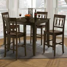Pub Table And Chairs Set 7 Piece Counter Height Table And All Wood Abbie Chair Set Style