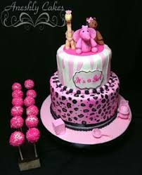 pink zebra and pink leopard baby shower cake facebook com