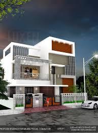 house elevation luxen architects in coimbatore chennai tamilnadu