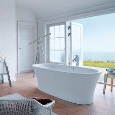 free standing bathtub oval by philippe starck cape cod duravit