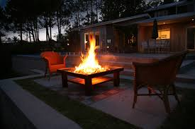 Burning Pit Of Fire - outdoor wood pit fires coffee table living flame