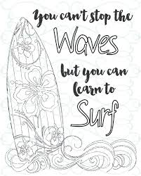 inspirational coloring page printable 03 learn to surf