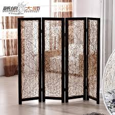 tri fold room divider furniture extraordinary dark brown solid wood bamboo room divider