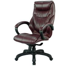 Leather Office Chair Real Leather Office Chair With Brown Color Ideas Home Interior