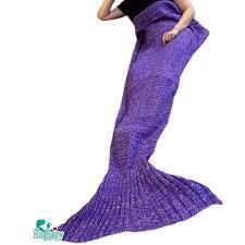 Mermaid Decorations For Home Amazon Com Hughapy Christmas Soft Mermaid Tail Blanket Handmade