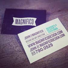 Good Business Card Font Magnifico Creative Examples Of Typographic Business Cards