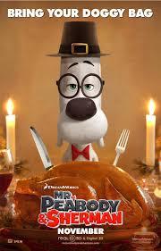 feliz thanksgiving day mr peabody u0026 sherman poster thanksgiving day peabody y