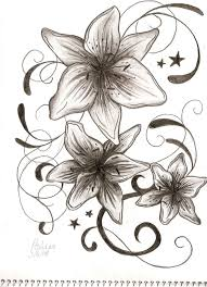 large flower tattoo designs flower drawing in pencil flowers drawings chainimage tattoo