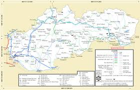 Trains In Europe Map by Maps Slovak Network