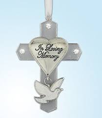 in loving memory charms in loving memory jeweled hanging ornament cross with dove charm