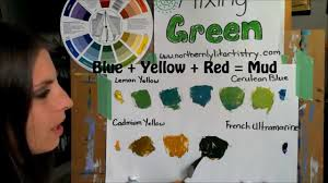 mixing green paint youtube